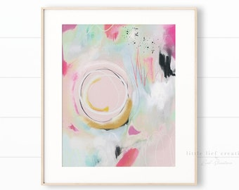 Printable Modern Art, Colourful Wall Art, Pastel Print, Brushstroke Art, Pink Abstract Art, Modern Printable Wall Art, Printable Abstract