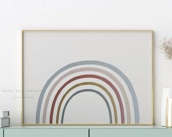 Rainbow Print, Watercolor Rainbow Print, Printable Rainbow Art, Nursery Art Print, Modern Nursery Art, Abstract Watercolor, Boho Nursery