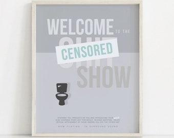 Funny Bathroom Decor, Funny Wall Art, Bathroom Wall Decor, Funny Bathroom Printable, Bathroom Poster, Bathroom Decor, Funny Art Print