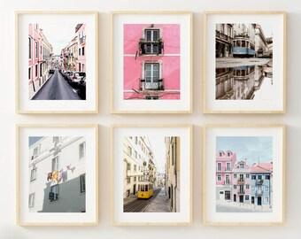 Portugal Art, Travel Wall Art, Set of 6 Art Prints, Portugal Wall Art, Portugal Prints, Lisbon Print, City Prints, City Wall Art