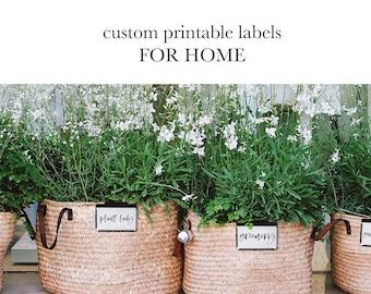 Custom Printable Labels, Printable Labels, Closet Organization, Custom Labels, Custom Tags, Printable Label Sheets, Farmhouse Labels