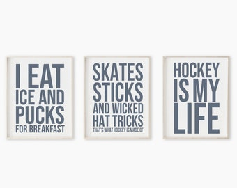 Hockey Print, Hockey Art, Printable Art, Sport Print, Hockey Printable, Hockey Wall Art, Hockey Decor, Sport Print for Boys Room