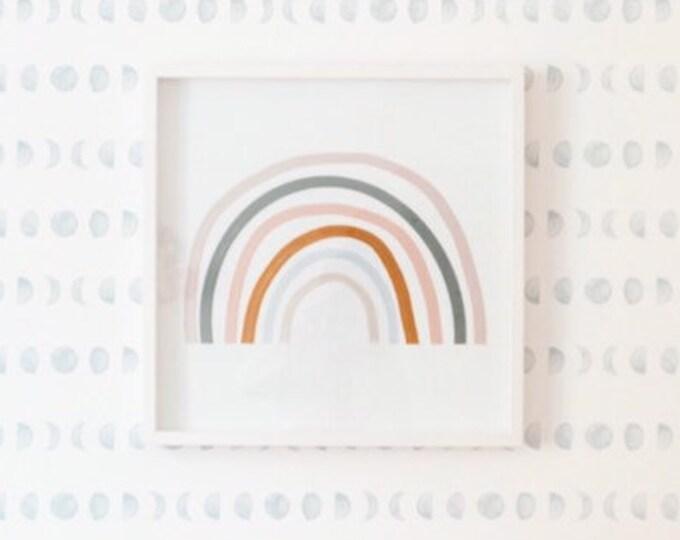 Featured listing image: Rainbow Nursery Art, Rainbow Print, Gender Neutral Nursery, Rainbow Printable, Neutral Nursery Art, Kids Room decor, Boho Nursery, Kids Art