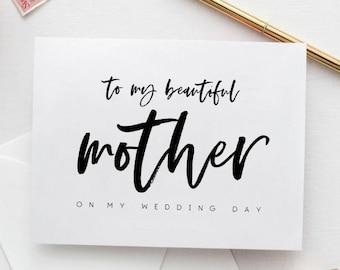 Wedding Card for Mom, Printable Wedding Card, Wedding Card to Mother, Printable Card for Weddings, Card for Mom, Mom of Bride