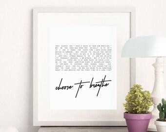 Breathe Wall Art, Breathe Printable, Motivational Wall Decor, Inspirational Wall Art, Motivational Wall Art, Office Decor, Home Decor
