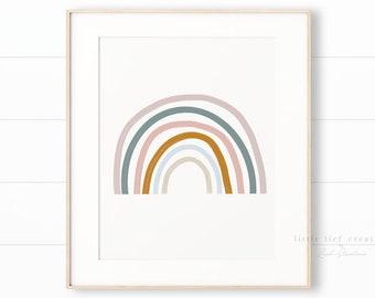 Rainbow Nursery Art, Rainbow Print, Gender Neutral Nursery, Rainbow Printable, Neutral Nursery Art, Kids Room decor, Boho Nursery, Kids Art