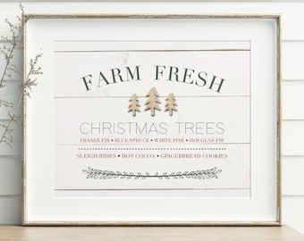 Christmas Tree Print, Christmas Tree Printable, Christmas Decor, Christmas Tree Art, Christmas Print, Christmas Printable, Tree Farm Print