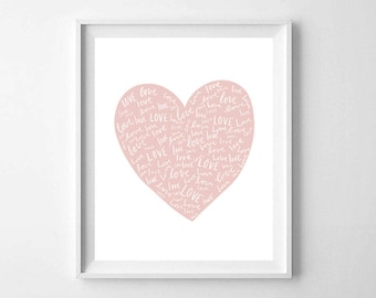 graphic relating to Heart Printable identify Center print Etsy