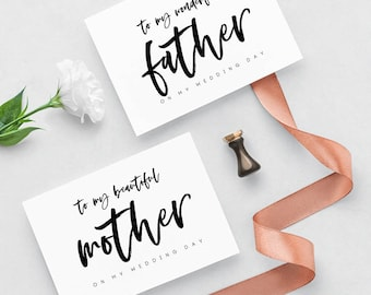 Cards For Wedding Day, Printable Wedding Cards, Parents Wedding Card, Card for Parents on Wedding Day, Wedding Day Cards, Cards for Mother