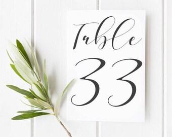 Modern Wedding Table Numbers, Wedding Table Numbers Printable, Wedding Table Number Signs, Black and White Wedding, Wedding Table Numbers