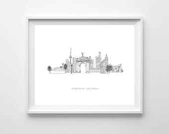 Toronto Print, City Art, City Skyline, Toronto Wall Art, Printable Art, Toronto Poster, Toronto City Map, Toronto Art Print, City Map Print