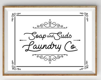Laundry Room Printable, Printable Art, Laundry Room Art, Laundry Room Print, Laundry Room Wall Art, Vintage Laundry Print, Farmhouse Print