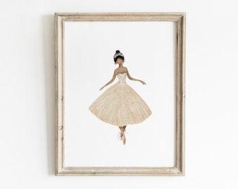 Sugar Plum Fairy, Printable Wall Art, Girls Room Wall Decor, Nutcracker Ballet Print, Nutcracker Printable, Nutcracker Christmas Decor