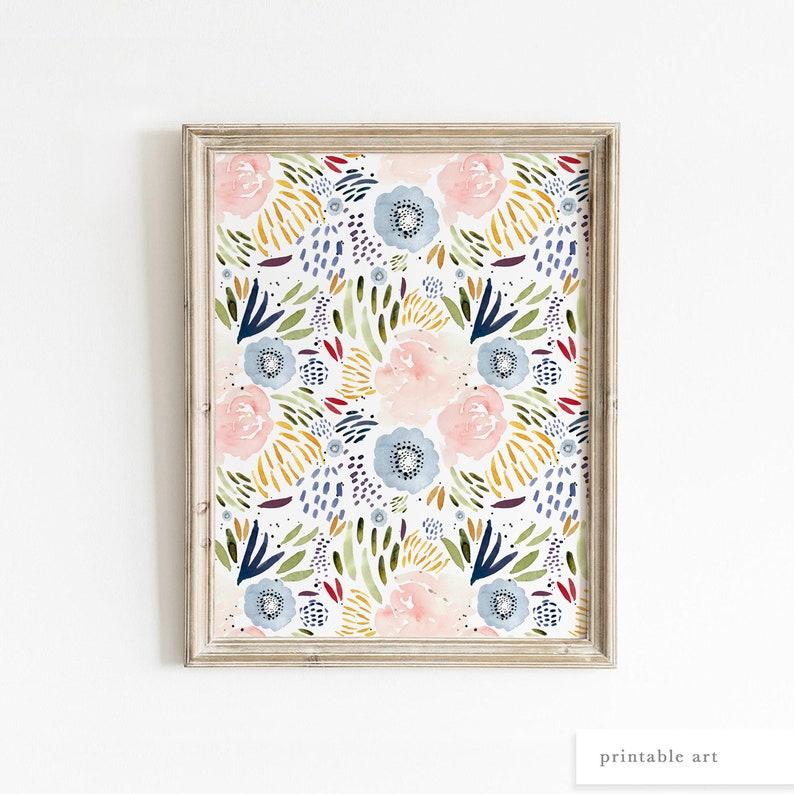 Rose Watercolor Painting Printable Wall Art Watercolor image 0