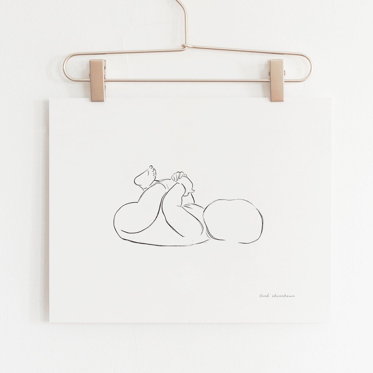 e4ba046f3 Minimalist Nursery Print Baby Illustration Line Drawing