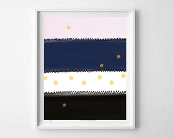Abstract Wall Art, Printable Art, Printable Abstract Art, Pink Navy Wall Art, Nursery Wall Art, Modern Wall Art, Abstract Printable