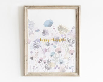 Wildflower Watercolor Print, Printable Art, Inspirational Quotes Printable, Floral Wall Art, Nursery Wall Art, Floral Art Print, Nursery Art