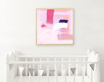 Pink Abstract Wall Art PRINTABLE - Colorful Abstract Art - Modern Painting - Abstract Painting - Brushstroke Art - Abstract print