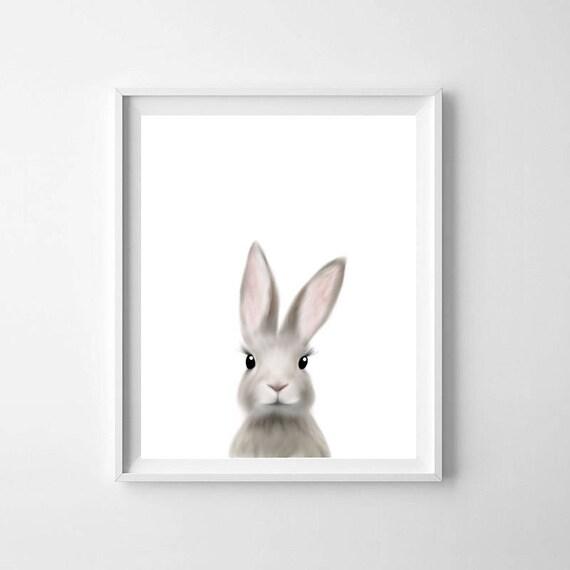 Woodland wall print,Bunny wall print Wall Art Nursery Print,Rabbit print