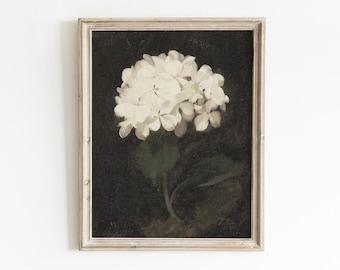 Vintage Botanical Wall Art, Printable Wall Art, Vintage Floral Print, Hydrangea Painting, Floral Wall Art, Vintage Floral Oil Painting