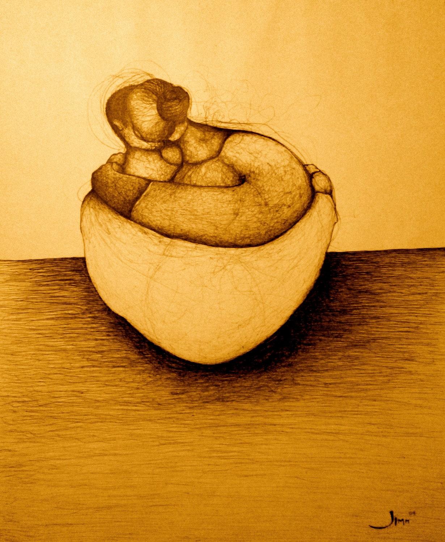 Wall Art Print Sepia Prints Drawing & Illustration Pen and   Etsy