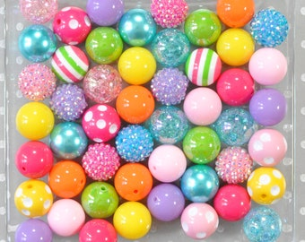 Red and White Stripes Chunky Bubblegum Beads 20mm Bubble Gum Beads 20MM Pink 20mm Shiny Chunky Beads Resin Beads in Bulk 20mm Beads