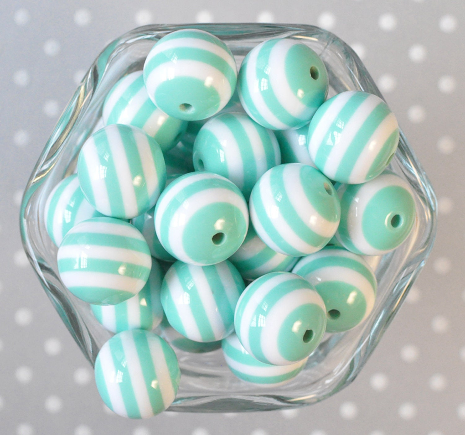 8mm 50 x BRIGHT STRIPE RESIN BUBBLE GUM BEADS SAME DAY POSTAGE