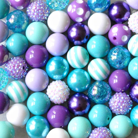 DELUXE PINK MIX CHUNKY BEADS 200 BUBBLEGUM BEADS EASTER SPRING BEAD MIX!