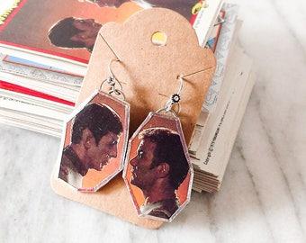 Star Trek Kirk and Spock Profile Upcycled Earrings