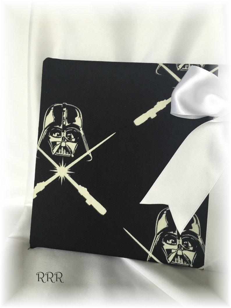 Sci fi Wedding Fantasy Wedding Star Wars Darth Vader Wedding Guest Book Black and White Wedding Guest Book Star Wars Wedding
