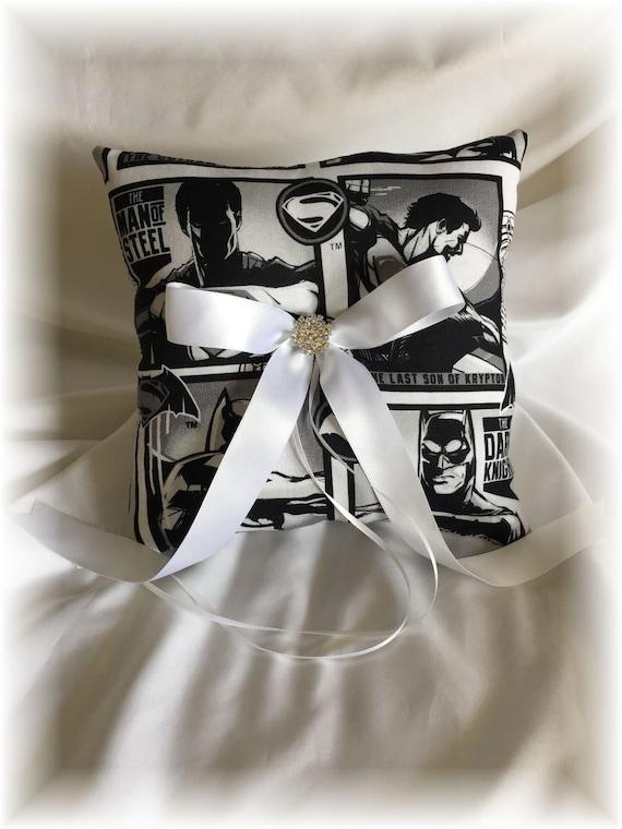 Wedding Pillow Batman Superhero Ring Bearer Pillow Ring Pillow