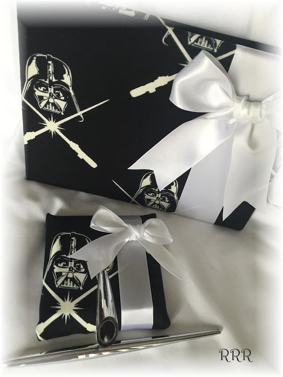 Star Wars Wedding Sci fi Wedding Fantasy Wedding Black and White Wedding Guest Book Star Wars Darth Vader Wedding Guest Book