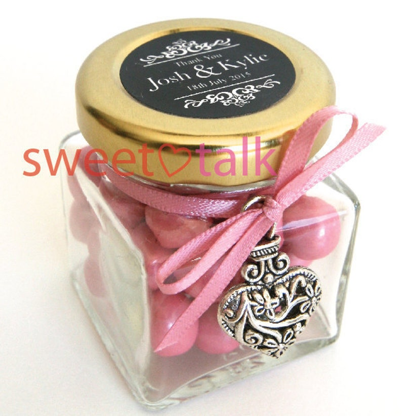 Wedding Favour Bomboniere Chocolates Candy Jar With Etsy