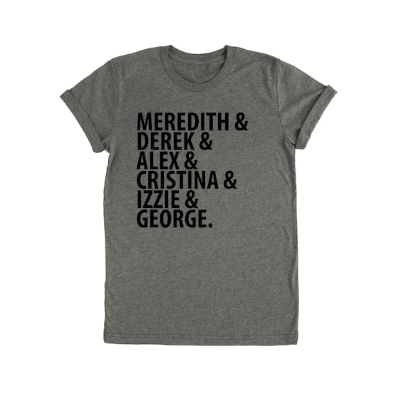 Grey/'s Anatomy t-shirt Original Name Medical Tv Show Seattle Ladies fit tee top