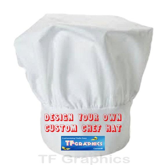 Impreso Personalizado Gorro De Chef Cocineros Sombrero