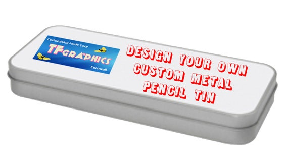 design your own custom personalised metal pencil tin pencil etsy