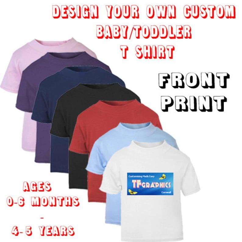 17e74b6ab Zaprojektuj własne dziecko Koszulka malucha z przodu druku | Etsy