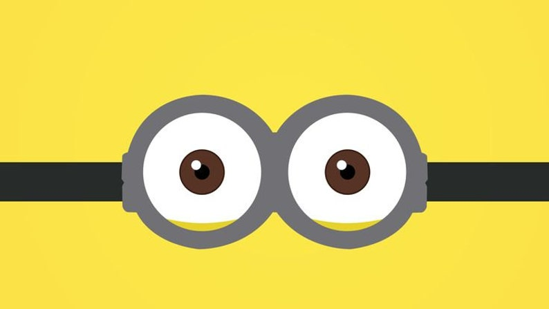 Minion Face With Goggles Embroidery Design Large Hoop Sizes Etsy