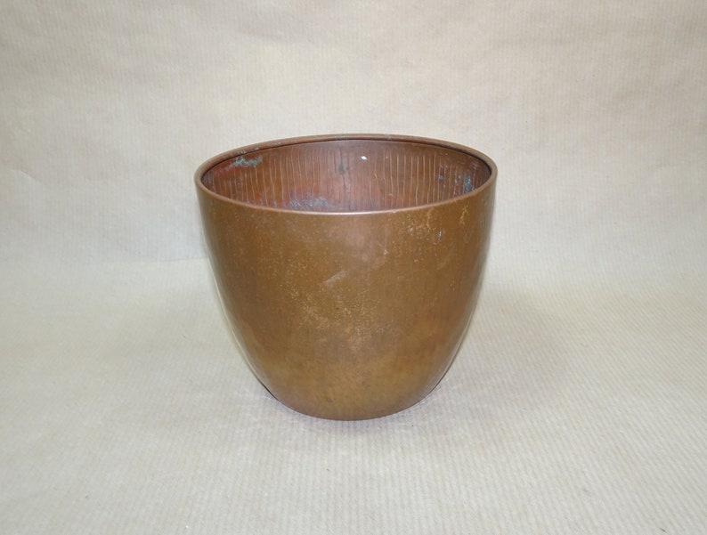 copper Planter flower pot mid century MCM