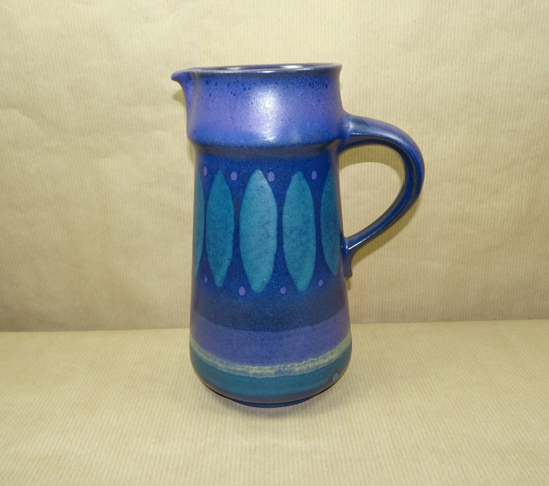 KMK Kupfermühle Viola Keramik DOSE DECKELDOSE 60er 70er