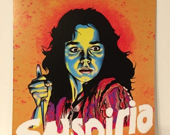 Suspiria art print/dario Argento/giallo/horror/slasher/witch/blood/macabre/halloween/disney/woman/gift/friends/music/candle/stamp/color/love
