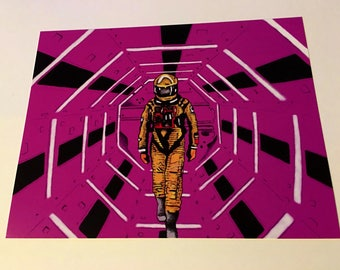 2001 a space odyssey art print/stanley Kubrick/NASA/science fiction/robot/horror/music/cinema/comics/film/movie/music/poster/planet/tattoo