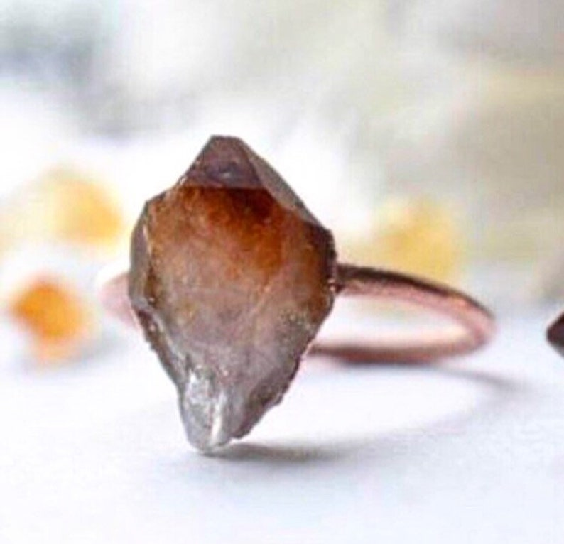 6ee087a4b6b62 Raw citrine ring | rustic copper ring | November gemstone citrine ring |  November birthstone | birthstone ring