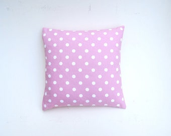Price reduced from 19.99! Ligth pink pocket dots pillow cover. Ideal for a girl room (18x18)