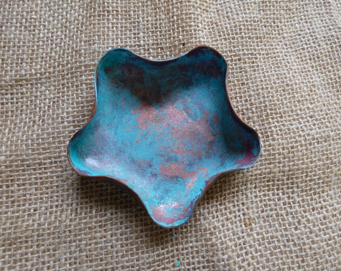 Featured listing image: Copper Decor { Nautical Decor } Patina Copper Bowl { Patina Nautical Decor } Patina Copper Decor { Rustic Seaside Decor } Housewarming GIft