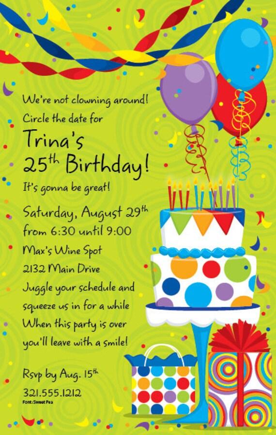 celebrate birthday party invitation celebration invite birthday