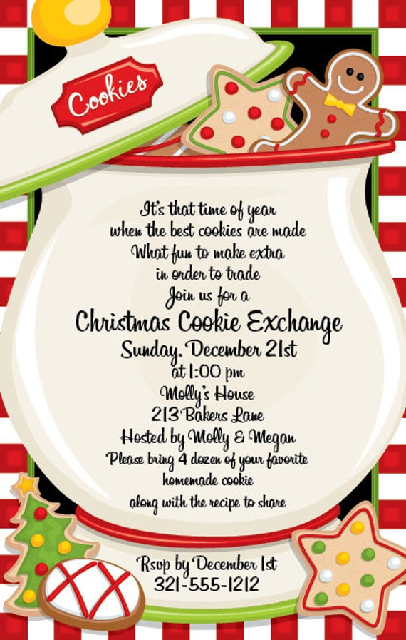 christmas cookie jar holiday party invitation family christmas