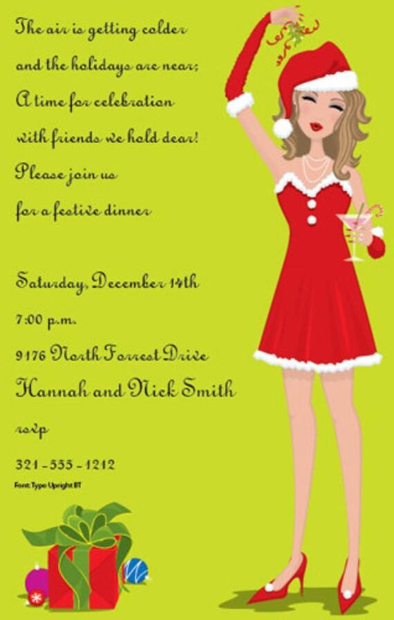 Naughty Or Nice Christmas Holiday Celebration Party Invitation