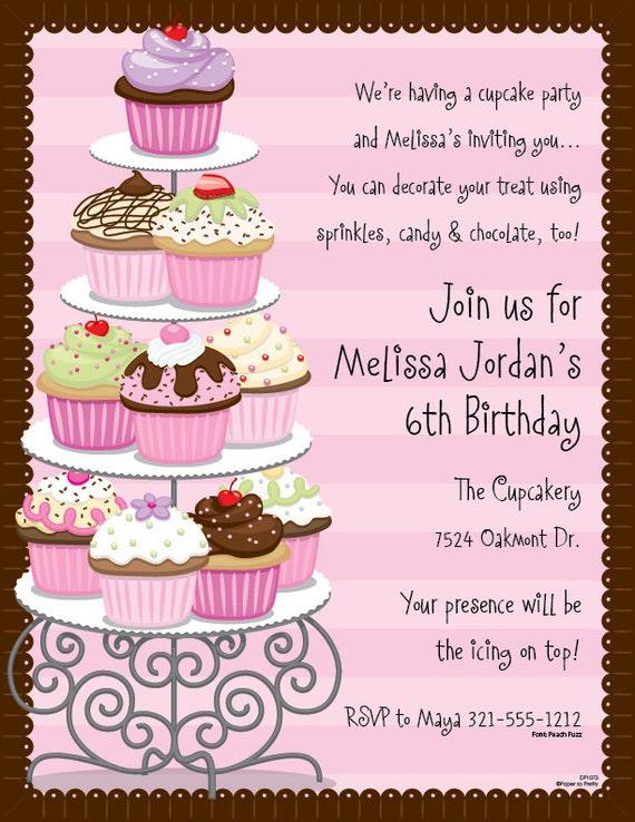 cupcakes celebration invitation birthday party bash bridal new
