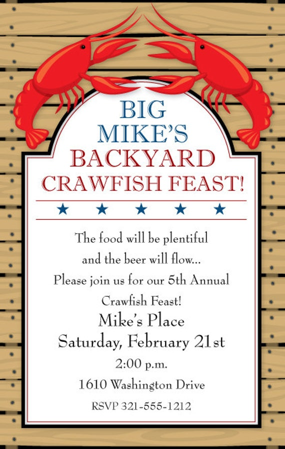 picture relating to Crawfish Boil Invitations Free Printable identify Crawfish Boil Invitation, Crawfish Boil Occasion, Crawfish